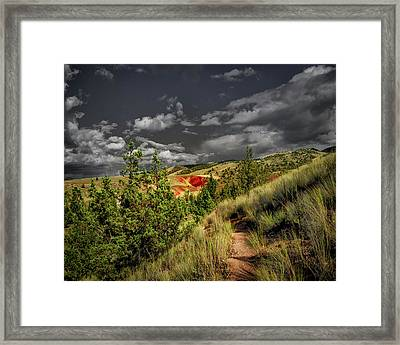 The Red Hill Framed Print