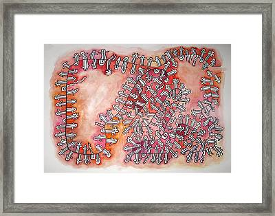 The Red Holons Universe Framed Print by Dirk Laureyssens