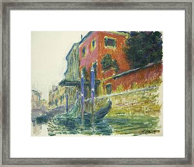 The Red House Framed Print by Claude Monet
