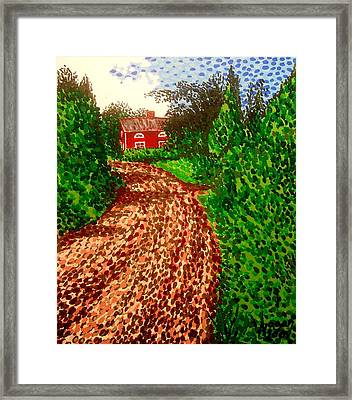 The Red House In Finland Framed Print by Alan Hogan