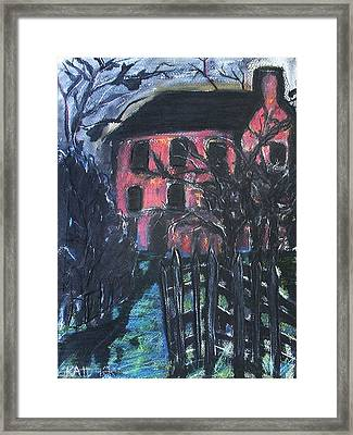 The Red House Framed Print