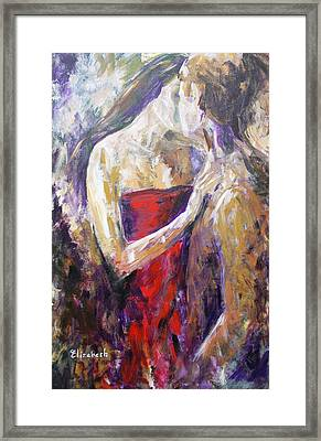 The Red Kiss Framed Print by Beth Maddox