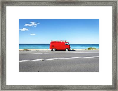 The Red Kombi Framed Print