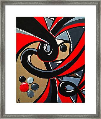 The Red Letter - Abstract Art Painting Framed Print
