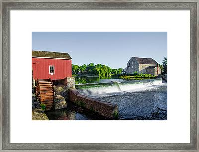 The Red Mill  On The Raritan River - Clinton New Jersey  Framed Print by Bill Cannon