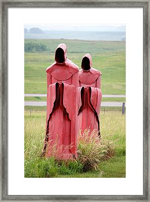 The Red Monks Framed Print by Art Spectrum