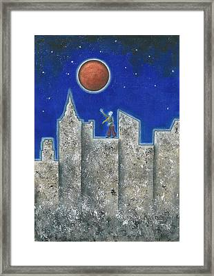The Red Moon Framed Print