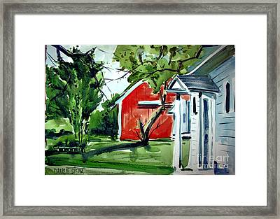 The Red Oxide Barn Matted Framed Print by Charlie Spear