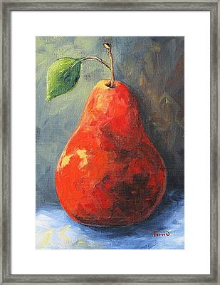 The Red Pear II  Framed Print by Torrie Smiley