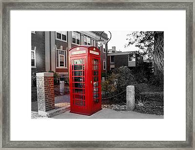 The Red Phonebooth Framed Print by Lois Lepisto