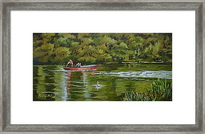 Framed Print featuring the painting The Red Punt by Murray McLeod
