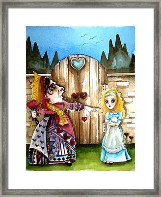 The Red Queen Framed Print by Lucia Stewart