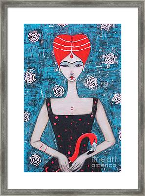 The Red Queen Framed Print by Natalie Briney