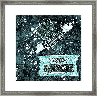 The Red Ranger - Icy Tron Blue Remix Framed Print by Soma79