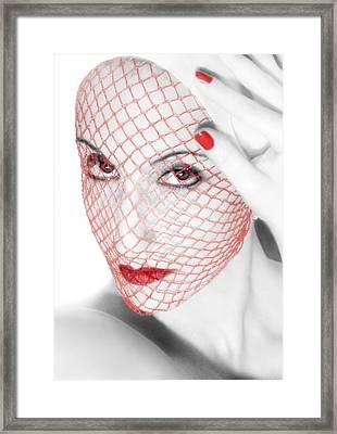 The Red Realm - Self Portrait Framed Print by Jaeda DeWalt
