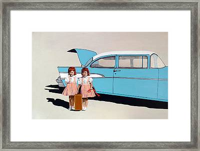 The Red Ribbon Framed Print by Kevin Callahan