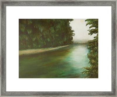 The Red River Framed Print by Ashly Eaton