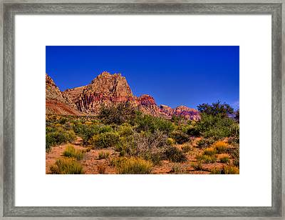 The Red Rock Canyon At Bonnie Springs Ranch Framed Print by David Patterson