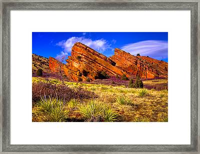 The Red Rock Park Vi Framed Print