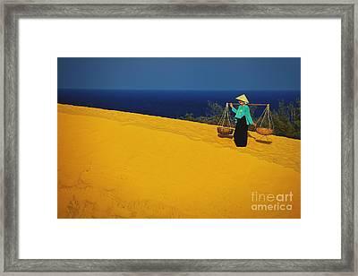 The Red San Dunes Of Mui Ne Vietnam Framed Print