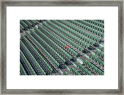 The Red Seat Of Fenway Framed Print