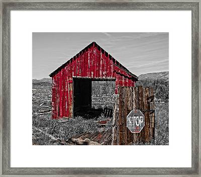 The Red Shack In Doyle Framed Print by Thom Zehrfeld