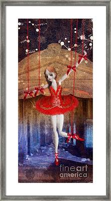 The Red Shoes Framed Print by Mo T