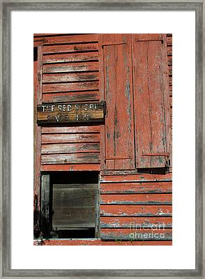 The Red Store Framed Print