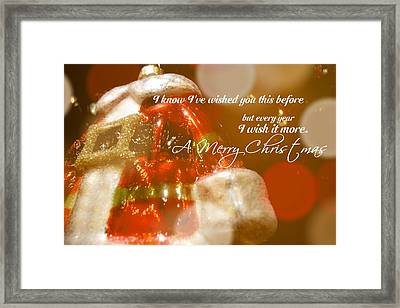 The Red Suit Quote Framed Print by JAMART Photography
