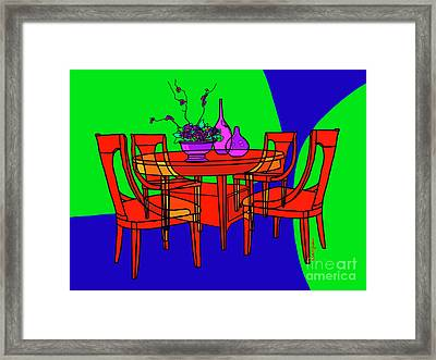 The Red Table Framed Print
