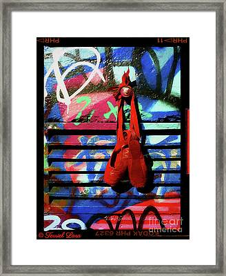 The Red Toe Shoes Variation #1  Framed Print by Terriel Lara