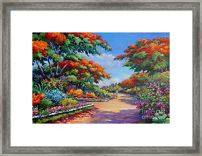 The Red Trees Of Savannah Framed Print