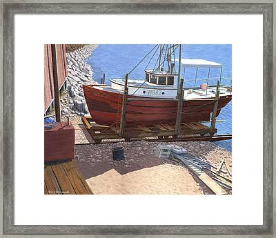 The Red Troller Framed Print