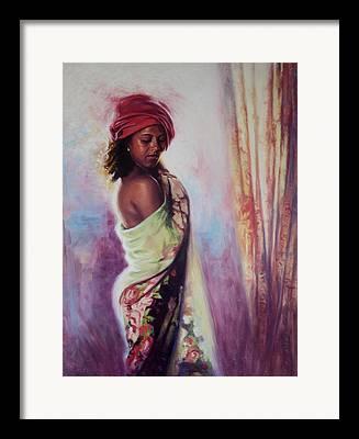 Wrap Dress Framed Prints