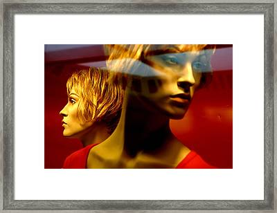 The Red Twins Framed Print by Jez C Self