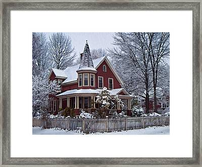 The Red Victorian Framed Print