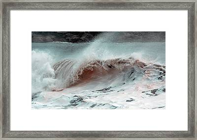 The Red Wave Framed Print