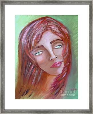 The Redhead Framed Print