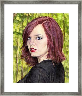The Redhead  Framed Print by Shana Rowe Jackson