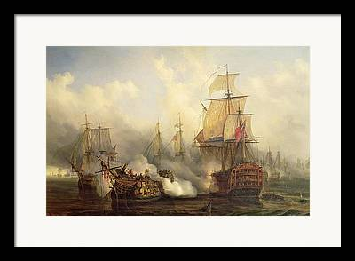 Battle Of Trafalgar Framed Prints