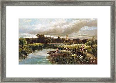 The Reed Cutter Framed Print