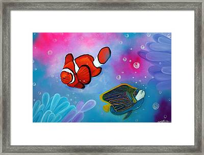 The Reef Framed Print by Laura Barbosa