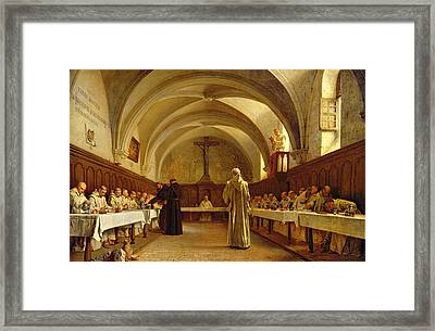 The Refectory Framed Print by Theophile Gide