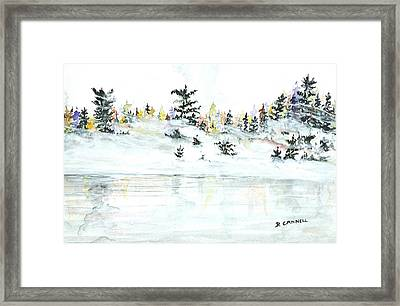 Framed Print featuring the painting The Reflection Lake by Darren Cannell