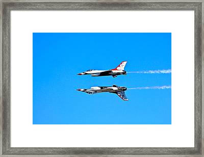 The Reflection Pass Framed Print