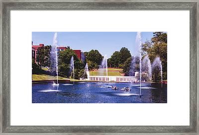 The Reflection Pond - Clemson University Framed Print
