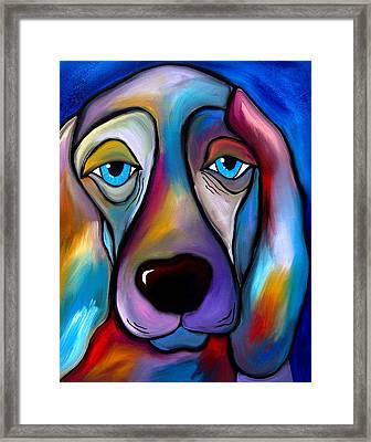 The Regal Beagle - Dog Pop Art By Fidostudio Framed Print by Tom Fedro - Fidostudio