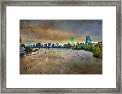 Framed Print featuring the photograph The Regatta - Head Of The Charles - Boston by Joann Vitali