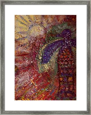 The Reign Of The Thunderbird Framed Print by Anne-Elizabeth Whiteway