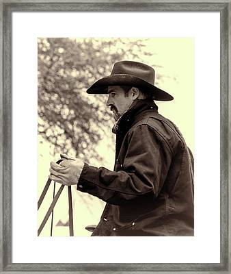 Framed Print featuring the photograph The Reins  by Jeanne May